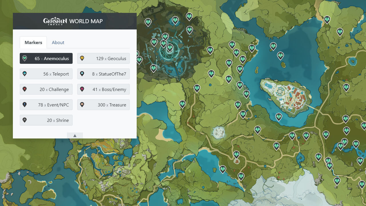 World Map - Genshin Impact Game DB