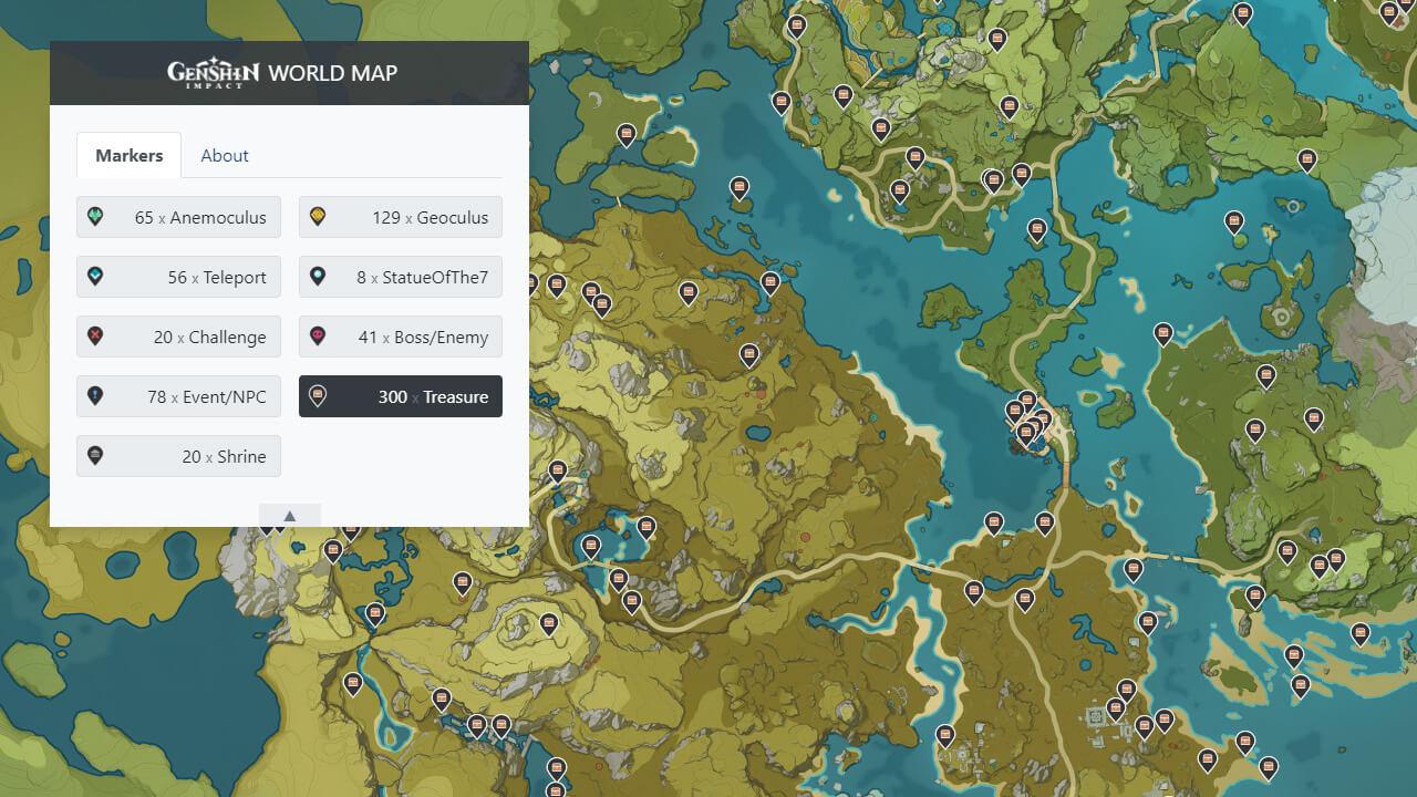World Map Genshin Impact Game Db