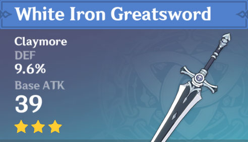 White Iron Greatsword image